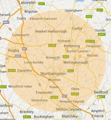 Northampton Areas Covered
