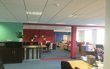 Redecorating of TGI Friday Offices